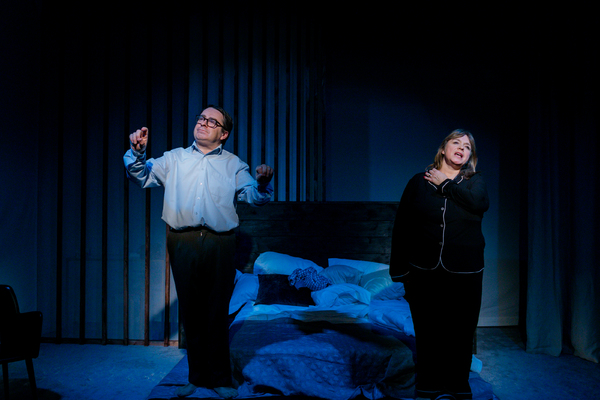 UK premiere of Sexy Laundry, Tabard Theatre, featuring Nick Raggett, Felicity Duncan - Photo Andreas Grieger