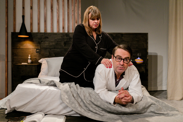 UK premiere of Sexy Laundry, Tabard Theatre, featuring Felicity Duncan, Nick Raggett - Photo Andreas Grieger