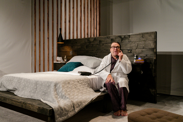 UK premiere of Sexy Laundry, Tabard Theatre, featuring Nick Raggett - Photo Andreas Grieger