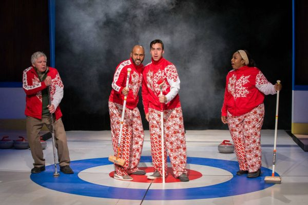 Guy Bannerman, Richard Young, Richard Lam, Jenni Burke. Photo: Randy deKleine-Stimpson. The New Canadian Curling Club - Thousand Islands Playhouse 2019