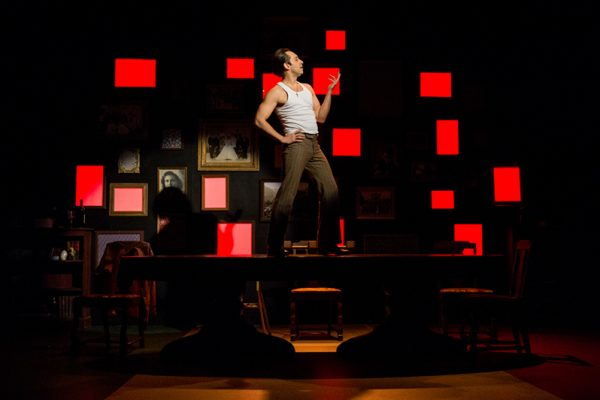 Farren Timoteo. Set Designer Cory Sincennes, Costume Designer Cindy Wiebe, Lighting Designer Conor Moore. Photo by Dylan Hewlett