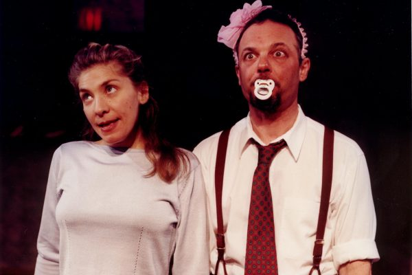 Diane Flacks and Richard Greenblatt in SIBS, at Tarragon Theatre, March 2000, written by Diane Flacks and Richard Greenblatt photography by Greg Tjepkema