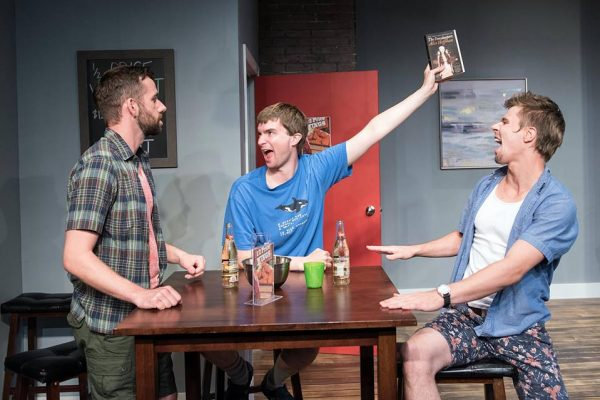 The cast of Book Club: Iain Stewart, Josh Johnston, Jeff Dingle, Tracey Beltrano, Brittany Kay, Franny McCabe-Bennett. Photo: Phil Bell, Shutter Studios