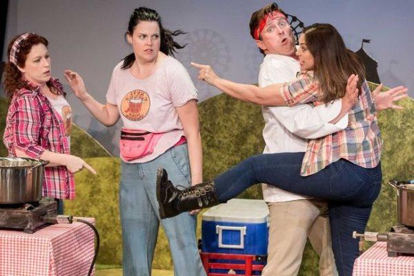 The cast of Five Alarm:  Danielle Nicole, Franny McCabe-Bennett, Jane Spence, Jeffrey Wetsch,   Tyler Rive
