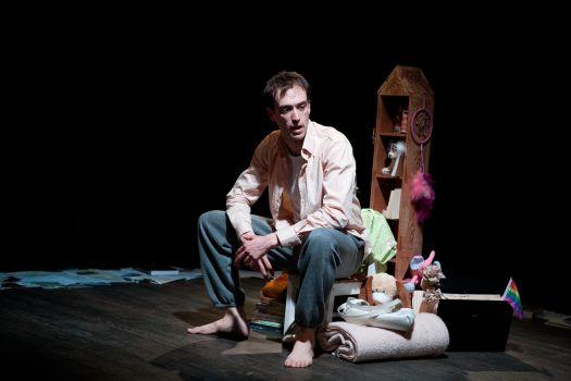 Kyle Cameron at the PAL Theatre.  Photo by Tina Kulic