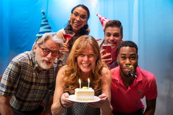 David Ley, Patricia Cerra, Mathew Hulshof, Cameron Grant and Chantal Perron in Happy Birthday Baby J. Photo by Marc. J. Chalifoux Photography